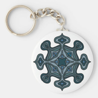 Blaue Mandala Schlüsselanhänger