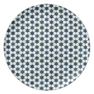 Blaue marokkanische Sternchen-Vereinbarung Flacher Teller