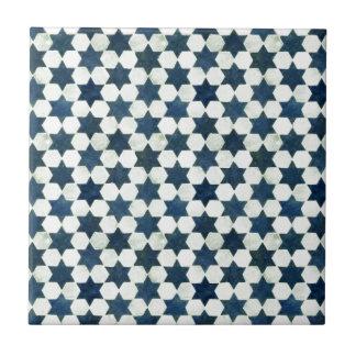 Blaue marokkanische Sternchen-Vereinbarung Kleine Quadratische Fliese
