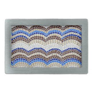 Blaue Mosaik-Rechteck-Gürtelschnalle Rechteckige Gürtelschnallen