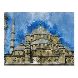 Blaue Moschee in Istanbul die Türkei Postkarte