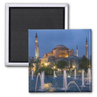 Blaue Moschee, Istanbul, die Türkei Quadratischer Magnet