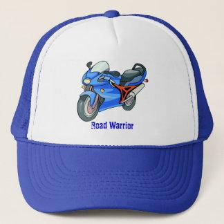 Blaue Motorrad-Kappe Truckerkappe