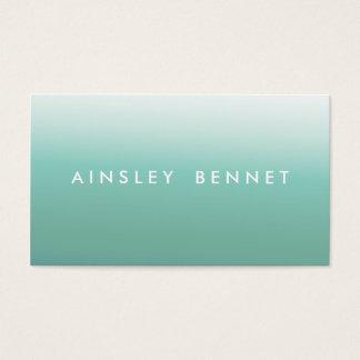 Blaue Ombre Aquarell-Visitenkarten Visitenkarten