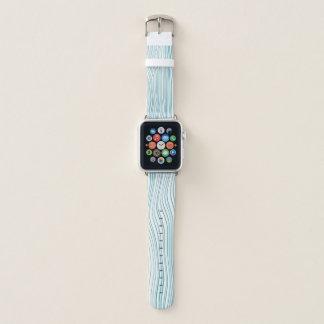 Blaue optische Linien Apple Watch Armband