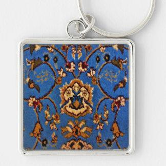 Blaue orientalische Wolldecke Schlüsselanhänger