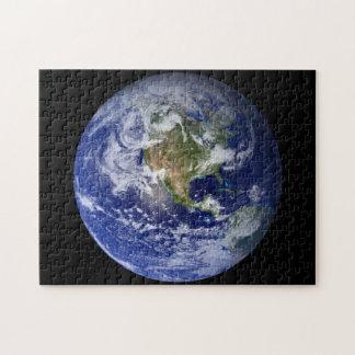Blaue Planeten-Erde Puzzle