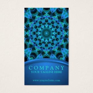 Blaue Quallen-Mandala Visitenkarte
