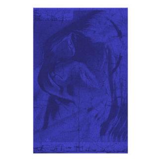 Blaue Reflexionen Individuelles Druckpapier