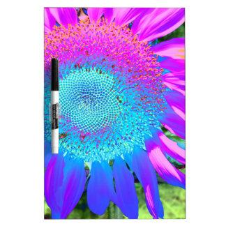 Blaue rosa und lila Sonnenblume Memoboard