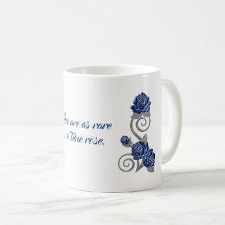 Blaue Rosen-Gefühl-Geschenk-Tasse Kaffeetasse