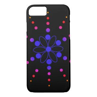 Blaue, rote und rosa blumige Perlen iPhone 8/7 Hülle