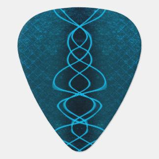 Blaue Schallwelle Gitarren-Pick