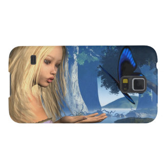 Blaue Schmetterlings-und Wasser-Nymphe - 2 Samsung Galaxy S5 Cover