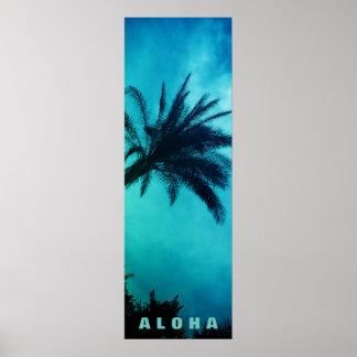 Blaue Sonnenuntergang-Aloha Poster