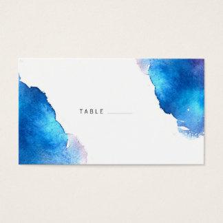 Blaue Spritzen-Aquarell-Hochzeit Visitenkarten