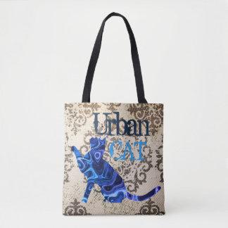 Blaue städtische Katze u. Maus ganz vorbei -
