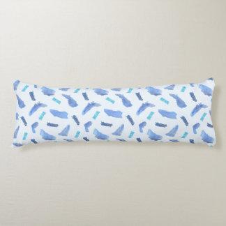 Blaue Stellen bürsteten Polyester-Körper-Kissen Seitenschläferkissen