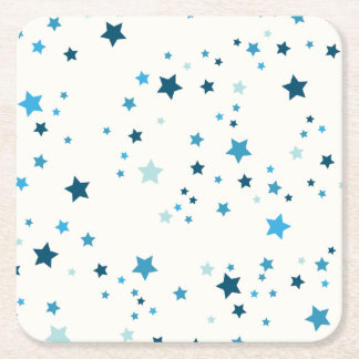 Blaue Sterne in den mehrfachen Schatten und in den Rechteckiger Pappuntersetzer