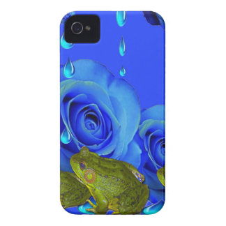 BLAUE SURREAL BRATENFETT-ROSEN-U. GRÜNE iPhone 4 Case-Mate HÜLLE