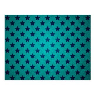 Blaue Treibstoff-Sternchen-Vereinbarung Postkarte