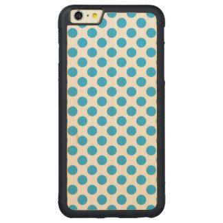 Blaue Tupfen Carved® Maple iPhone 6 Plus Bumper Hülle