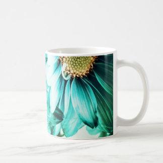 Blaue u. gelbe Gänseblümchen-Tasse Tasse