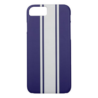 Blaue u. weiße Kohlenstoff-Faser Stripes iPhone 7 iPhone 8/7 Hülle