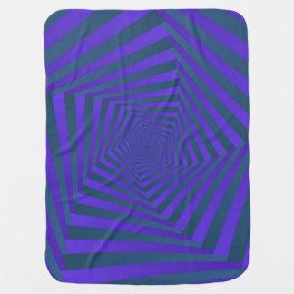 Blaue und lila gewundene Baby-Decke Pentagons Puckdecke