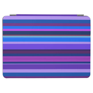 Blaue und lila horizontale Streifen iPad Air Cover