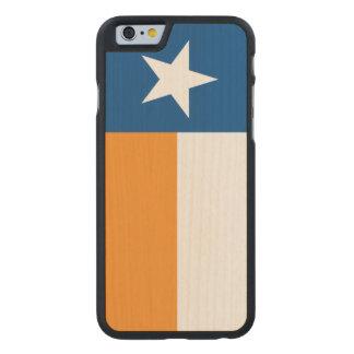 Blaue und orange Texas-Flagge Carved® iPhone 6 Hülle Ahorn