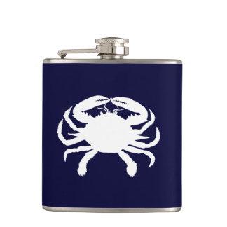 Blaue und weiße Krabben-Form Flachmann