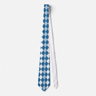 Blaue und weiße Rauten-Krawatte Krawatten