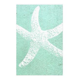 Blaue und weiße Starfish stationär Briefpapier