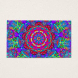 Blaue Universum-Mandala-Visitenkarten Visitenkarte