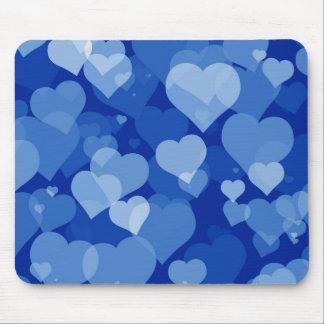 Blaue Valentinsgruß-Herz-Mausunterlage Mauspads