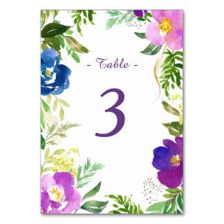 Blaue violette Garten-Hochzeit