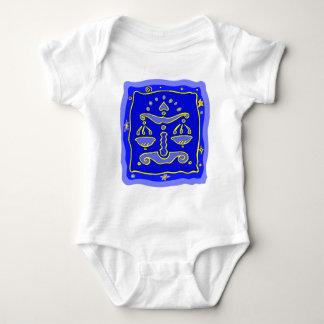 Blaue Waage Baby Strampler