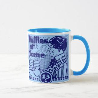 "Blaue ""WAFFELN"" Kaffee-Tasse Tasse"