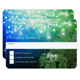 Blaue Waldmaurer-Glas-Schnur von Lichter UAWG Karte