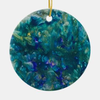 Blaue Wasserfarbe-Farben-Kunst Keramik Ornament