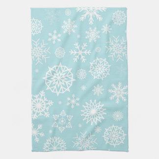 Blaue weiße handtuch