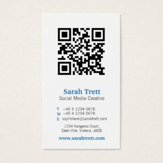 Blaue weiße qr Codebild-Medium-Visitenkarte Visitenkarten