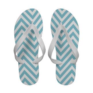 Blaue weiße Zickzack Zickzack-Zapfen drehen Reinfä Sandale