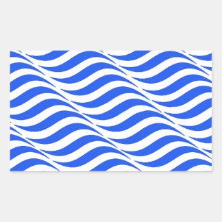 Blaue Wellen Rechteckiger Aufkleber