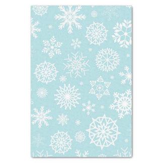 Blaue Winter-Schneeflocke-Weihnachtsfeiertage Seidenpapier