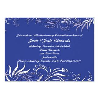 Blaue Wirble Jahrestags-Einladung 12,7 X 17,8 Cm Einladungskarte