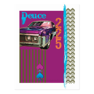 Blaue Zwei Postkarte