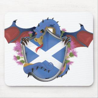 Blauen schottischen Drache-St Andrew Kreuz Mauspad
