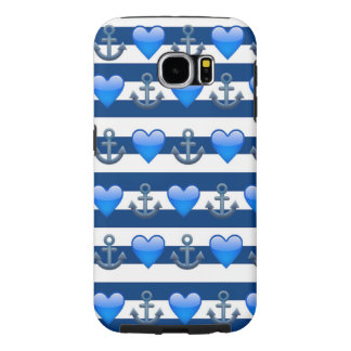 Blauer Anker Emoji Samsung Kasten Galaxie-S6